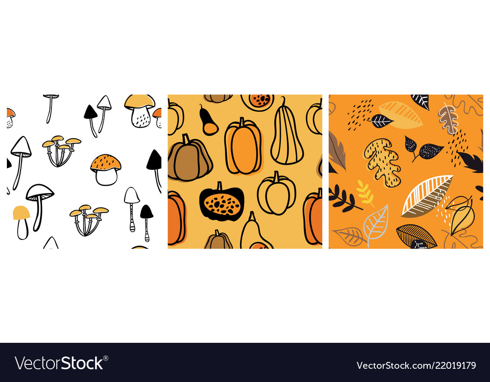 Autumn pattern set perfect for wallpaper gift