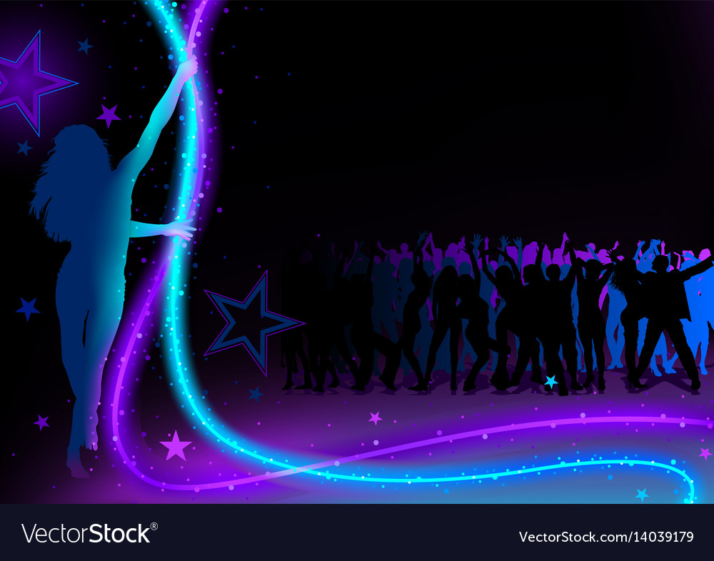 dance party background royalty free vector image