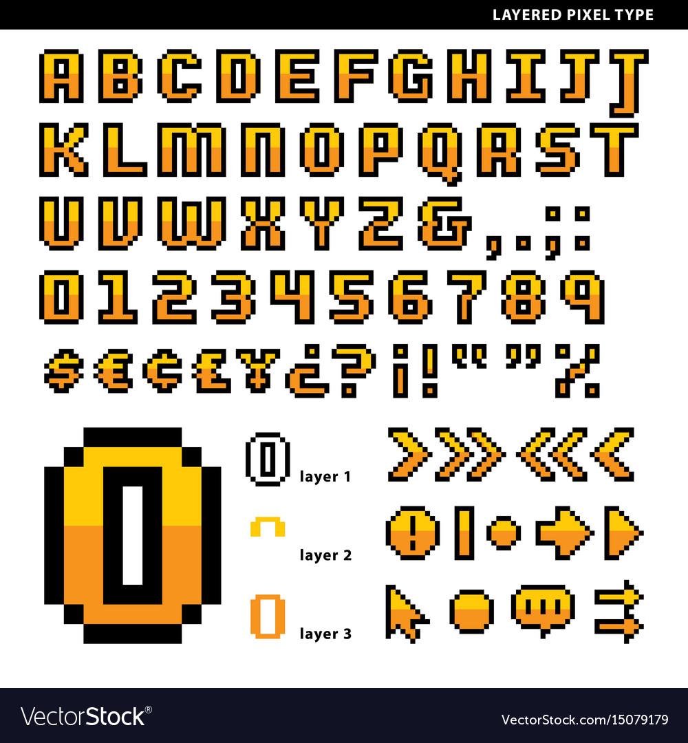 Layered pixel type