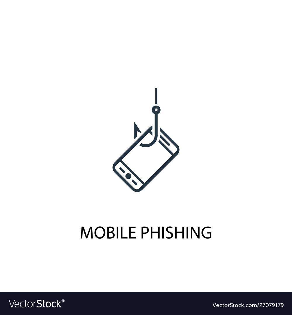 Mobile phishing icon simple element