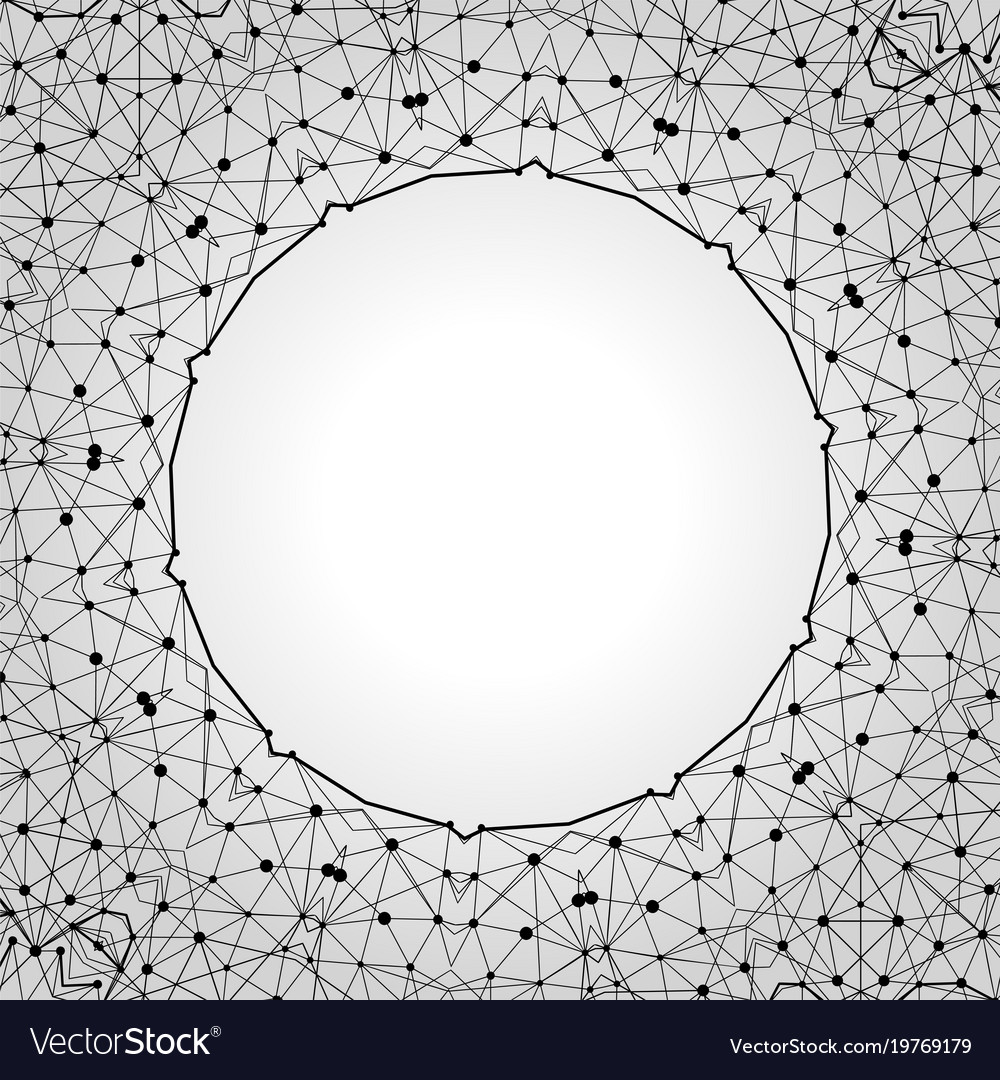 Modern geometric frame template graphic linear Vector Image