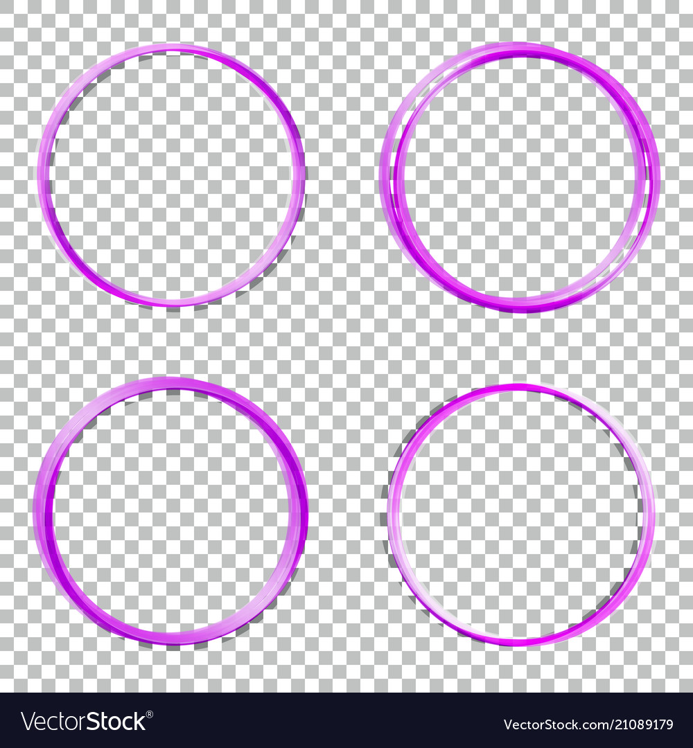 Set collection of abstract round frames