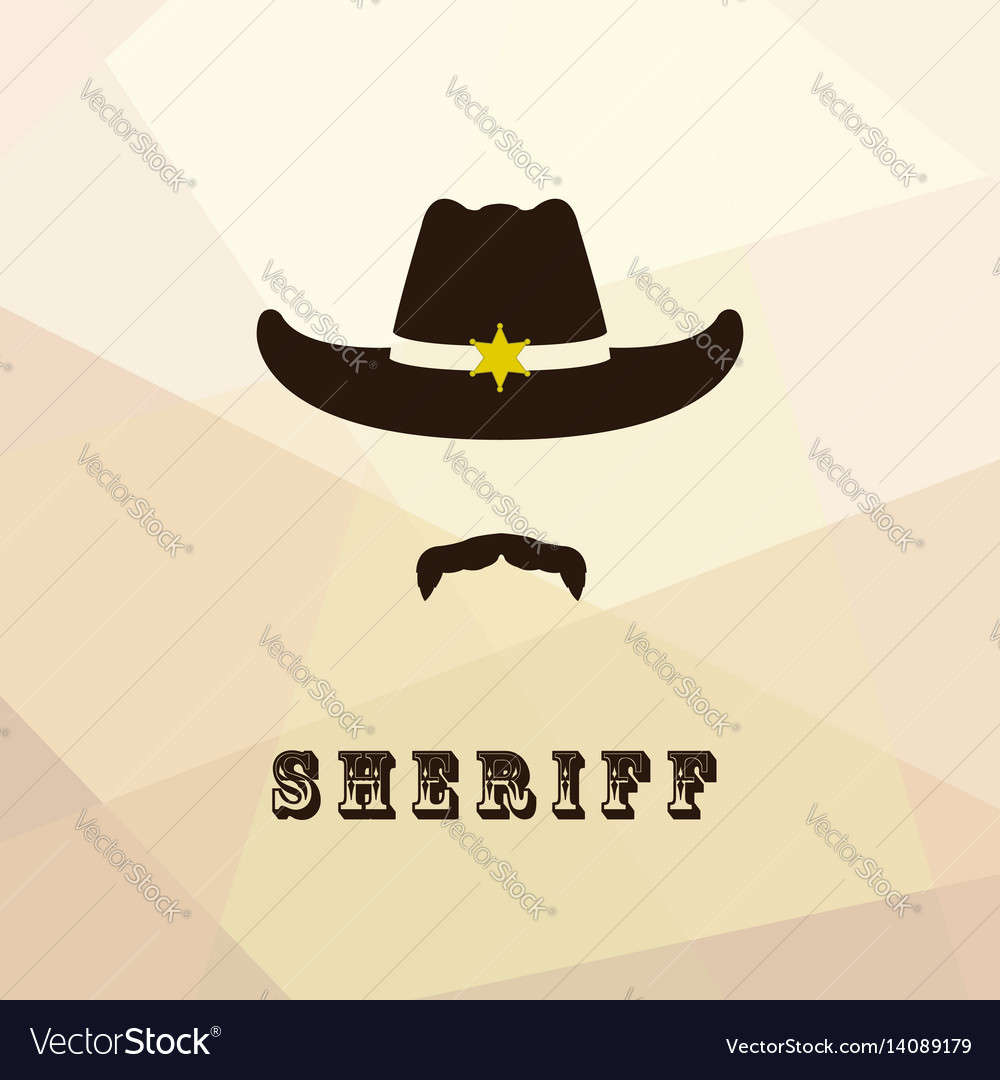 Sheriff face icon isolated on multicolor backgroun