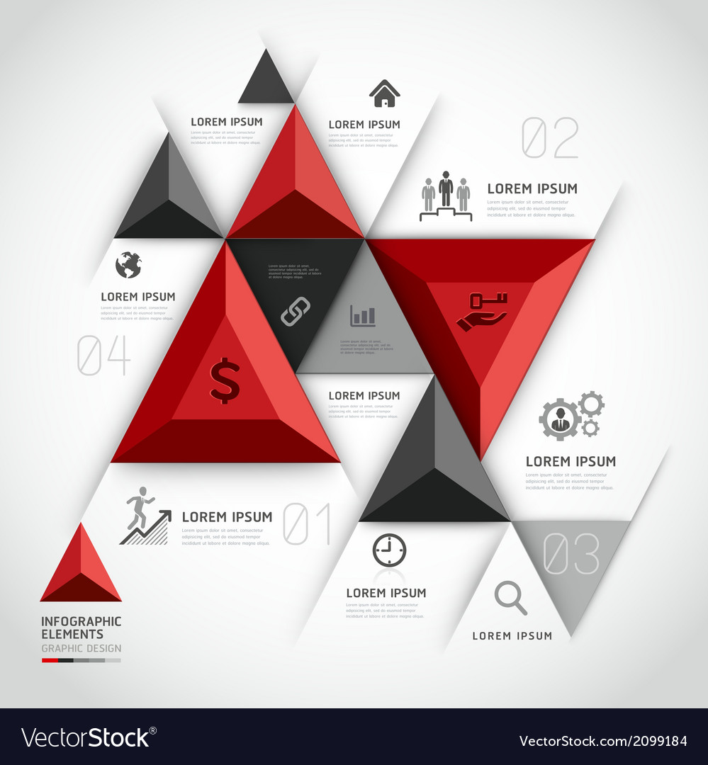 3d infographics business triangle