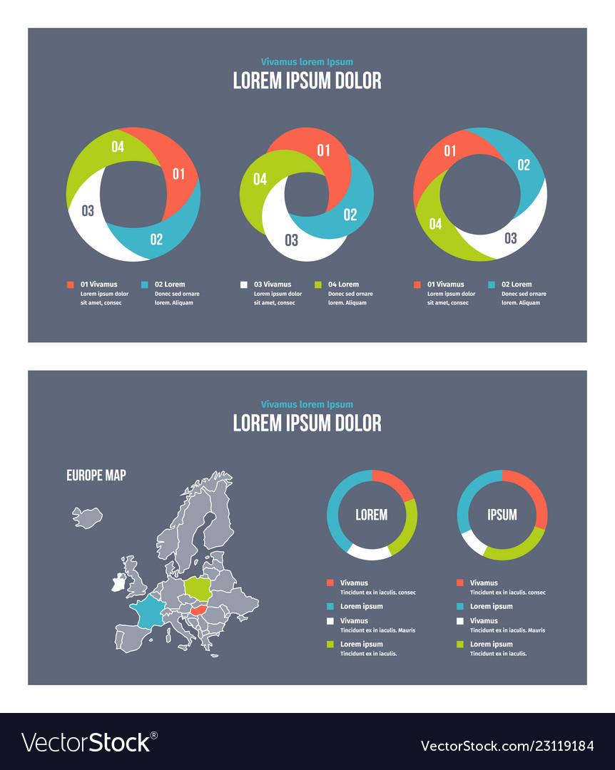 Business infographic presentation slides template
