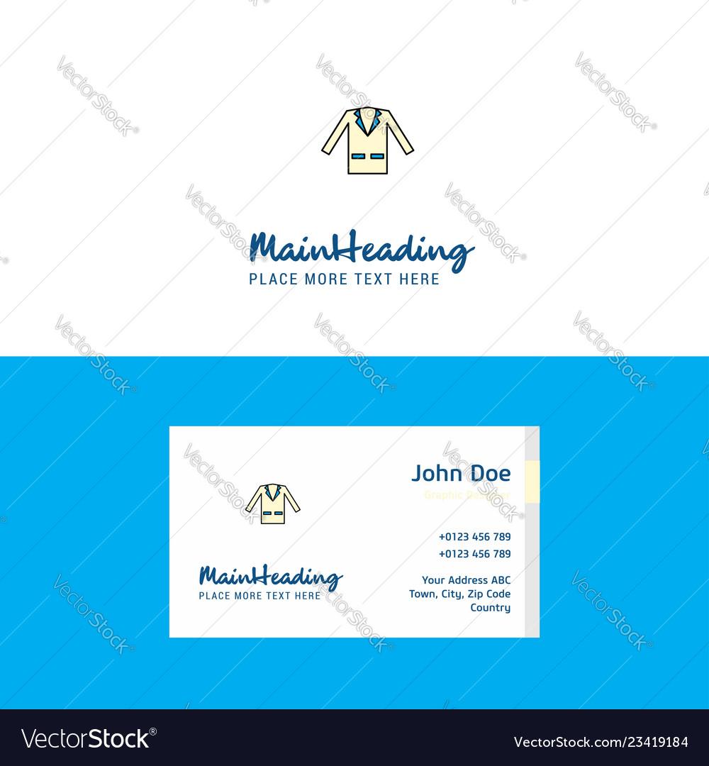 Flat coat logo and visiting card template