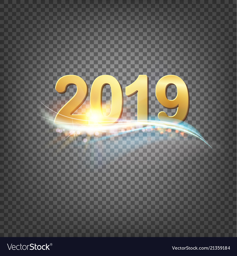 Hy New Year Card Template Vector Image