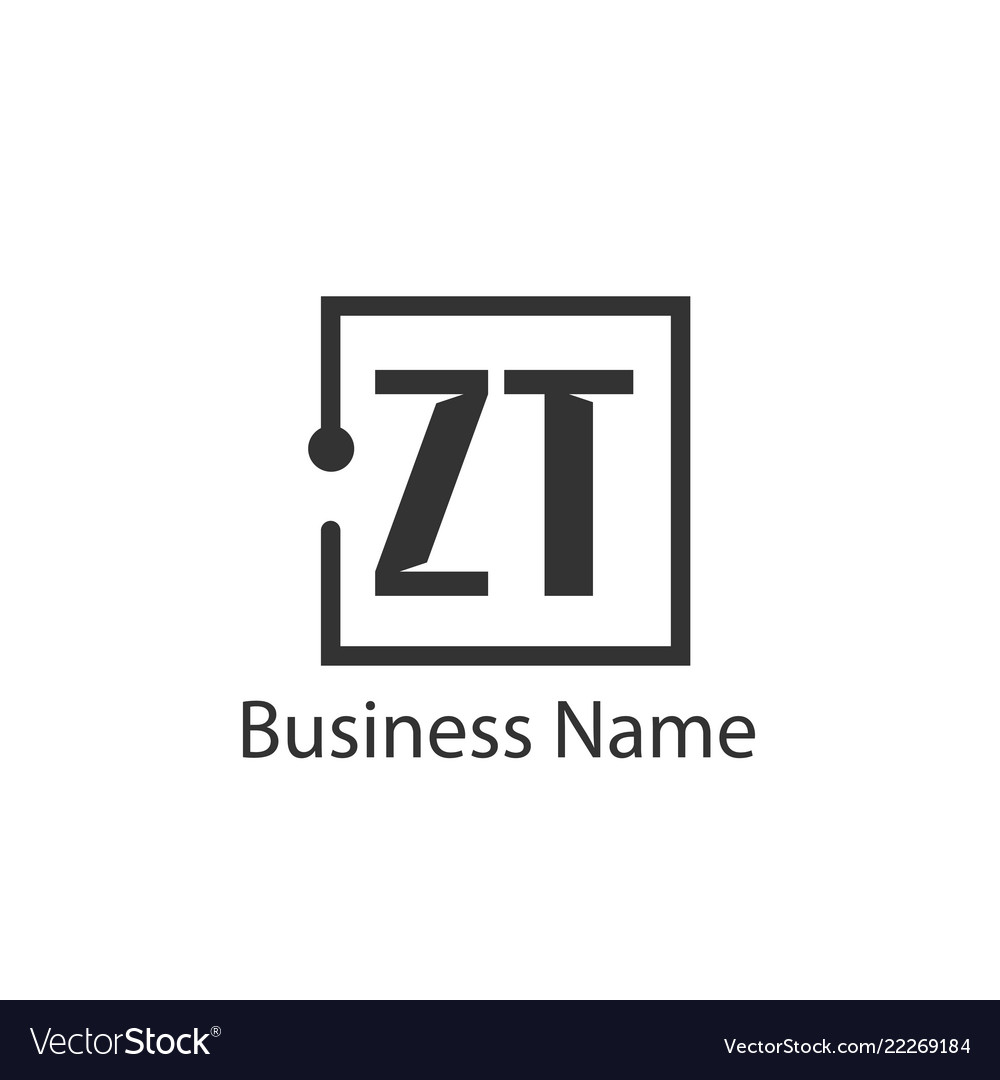 Initial letter zt logo template design