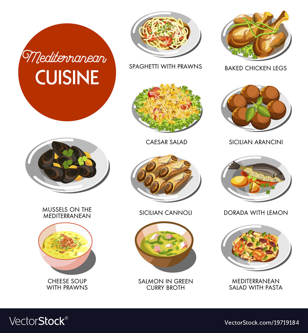Mediterranean cuisine food traditional dishes