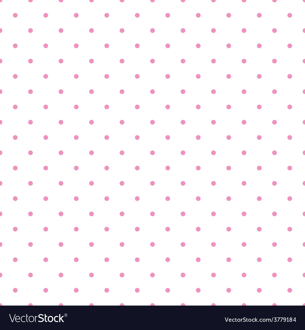 Tile pattern pink polka dots white background