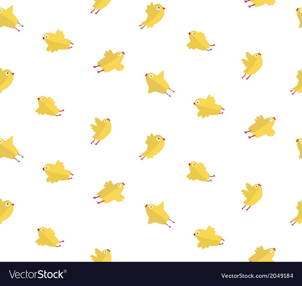 Yellow Chicken Seamless Pattern