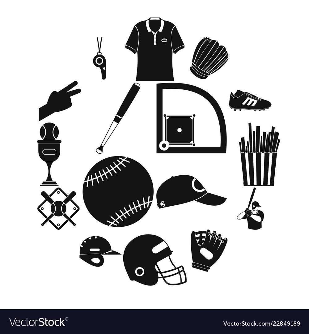American football black simple icons