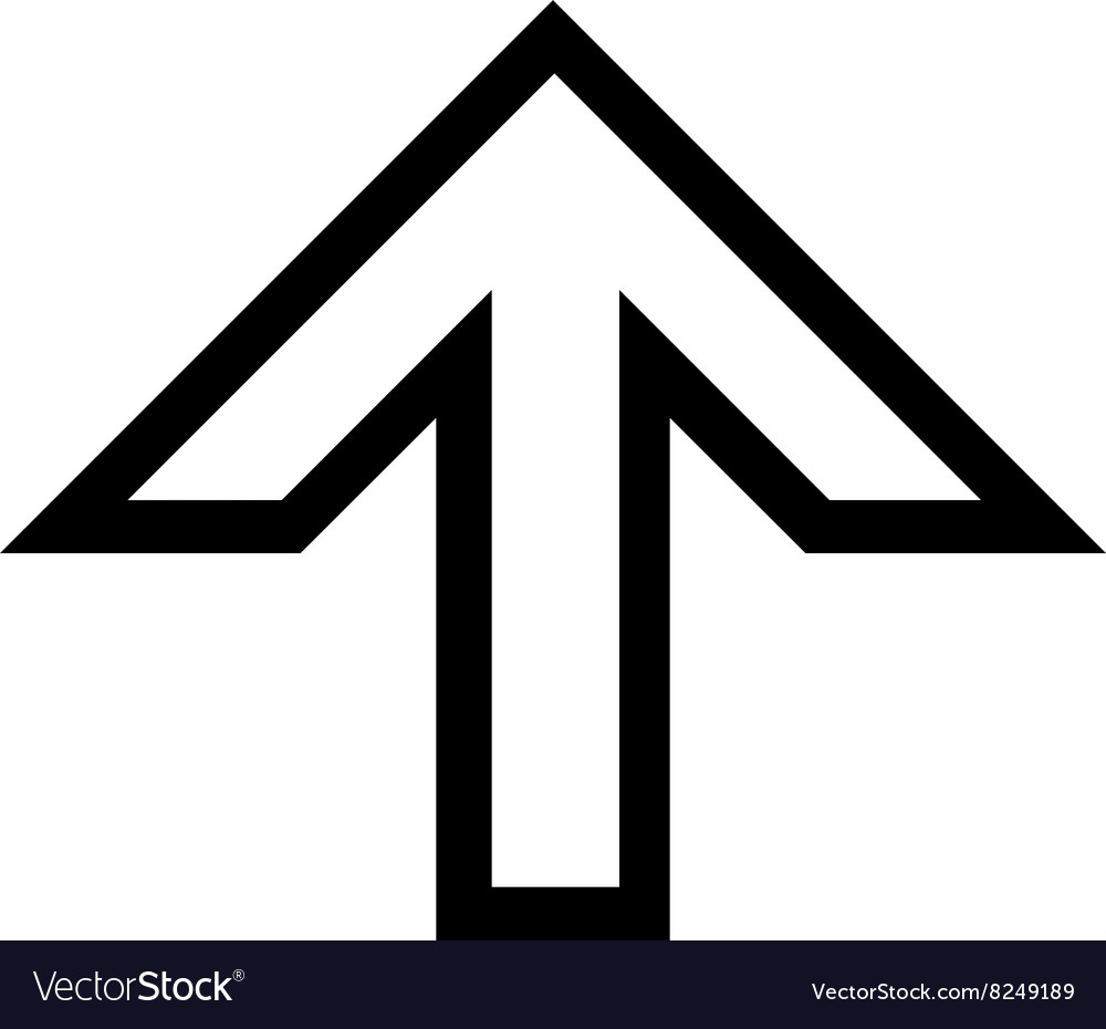 Arrow up outline icon royalty free vector image arrow up outline icon vector image altavistaventures Gallery
