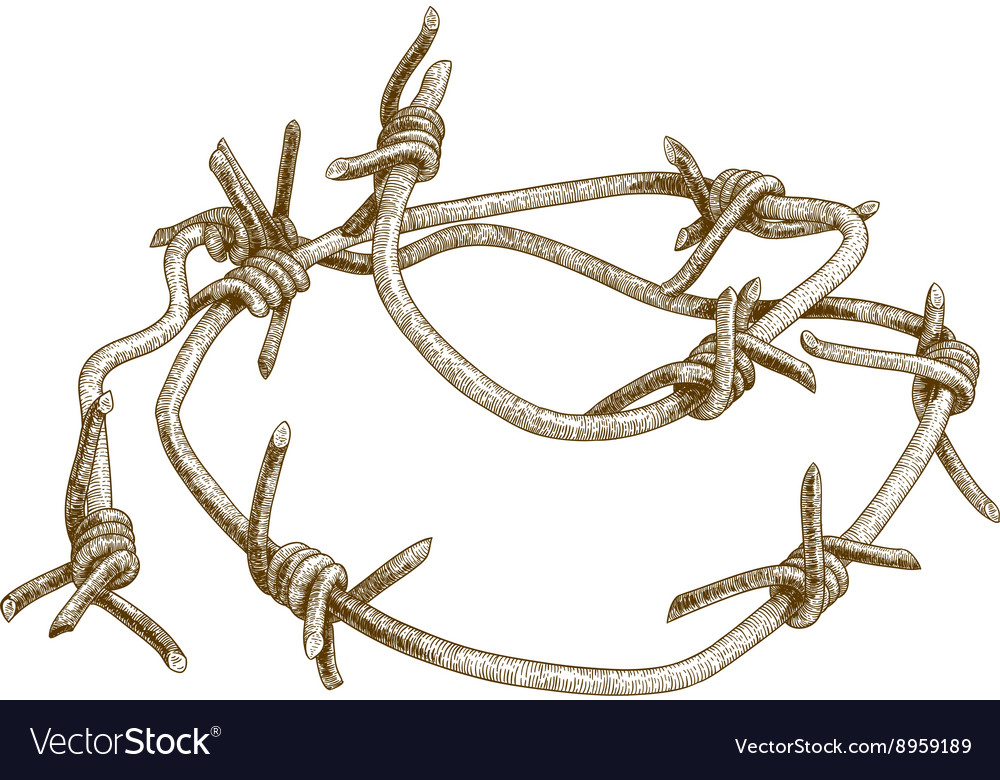 Engraving barbed wire