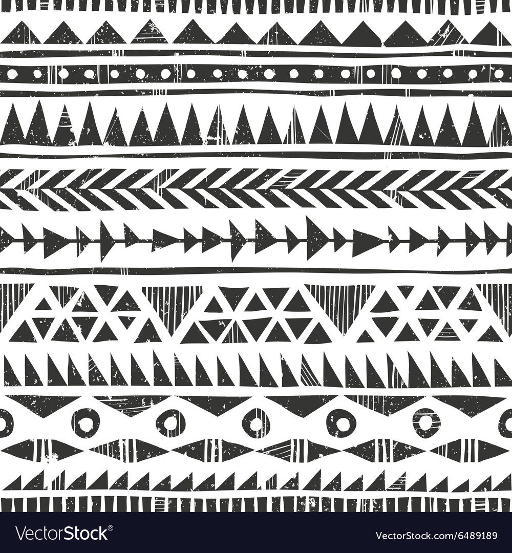 Hand drawn tribal print Primitive