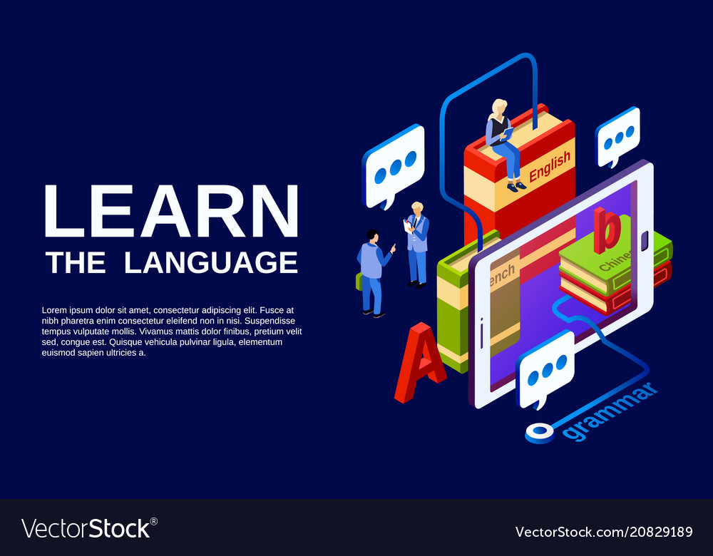 Language learning poster