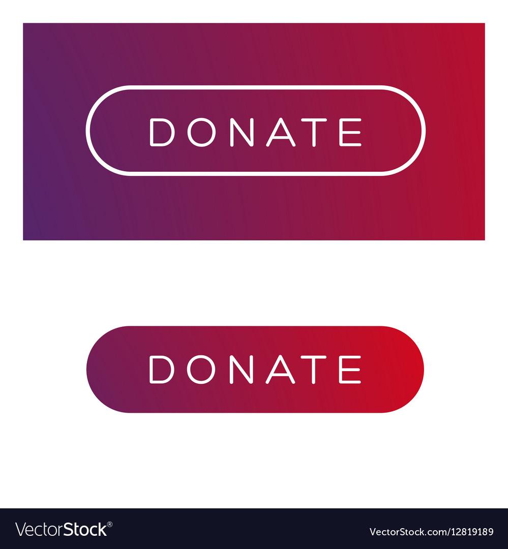 Modern Donate button flat