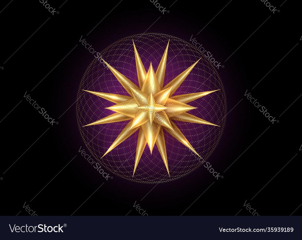North star gold wind rose golden compass logo