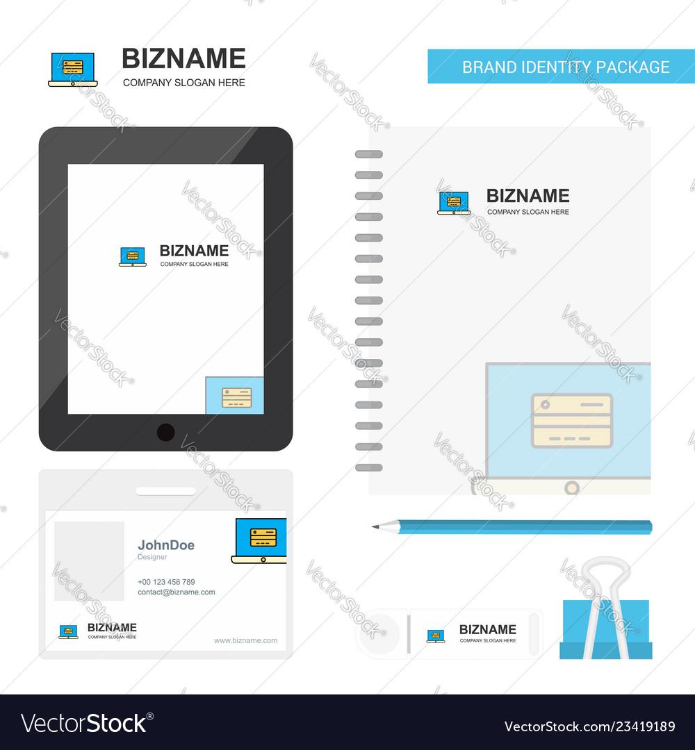 Online banking business logo tab app diary pvc