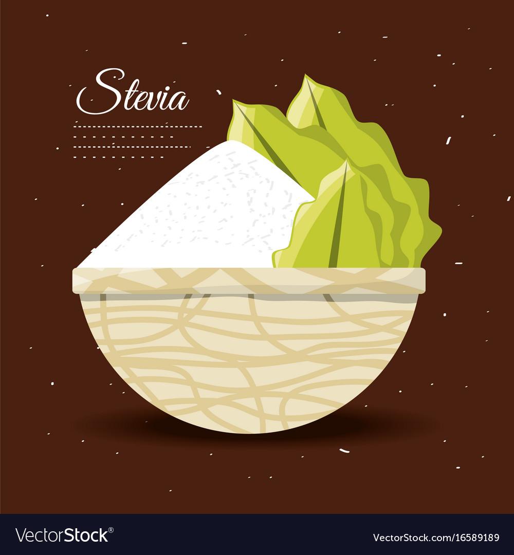 Stevia natural sweetener inside bowl