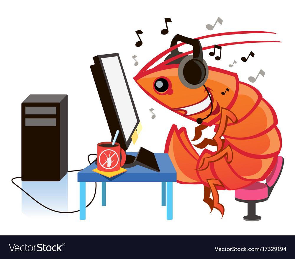 Cartoon shrimp cartoon character