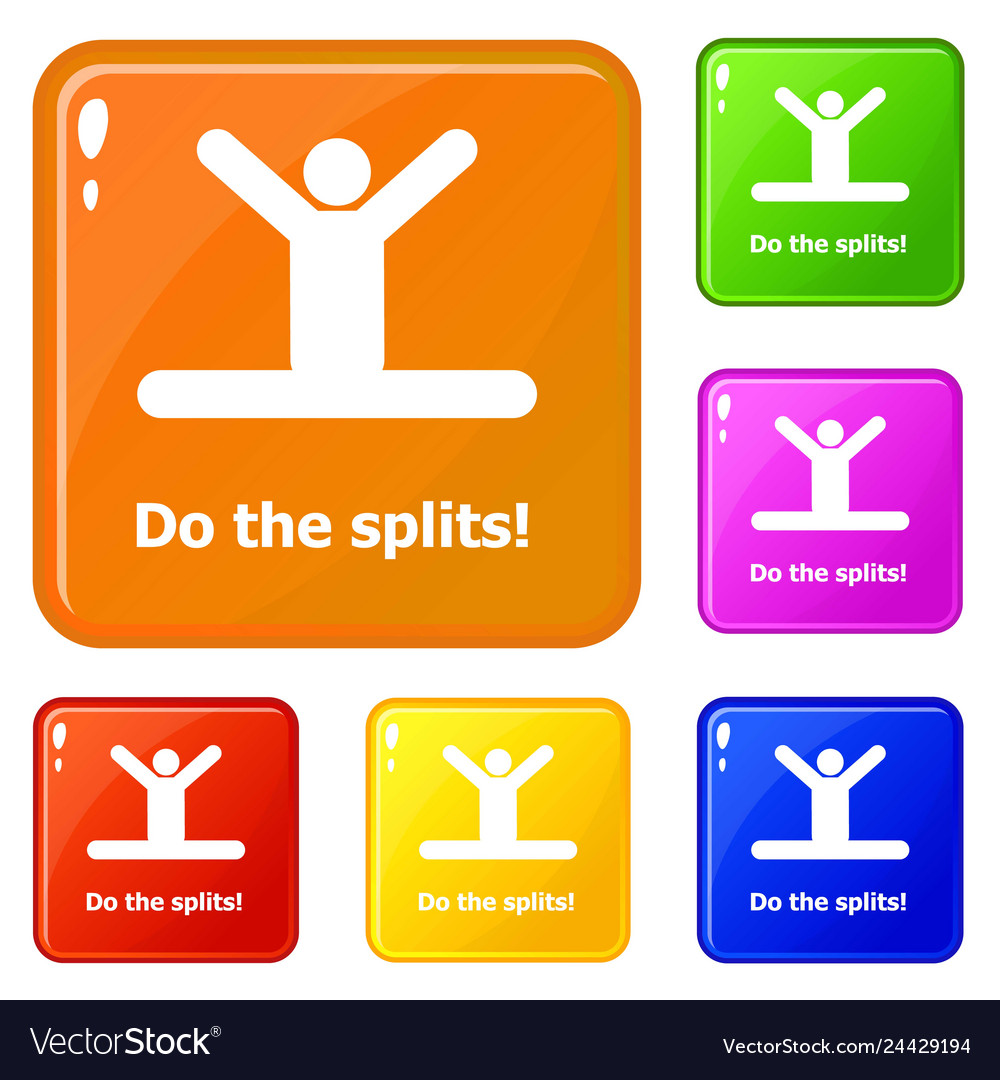 Do the splits icons set color vector image