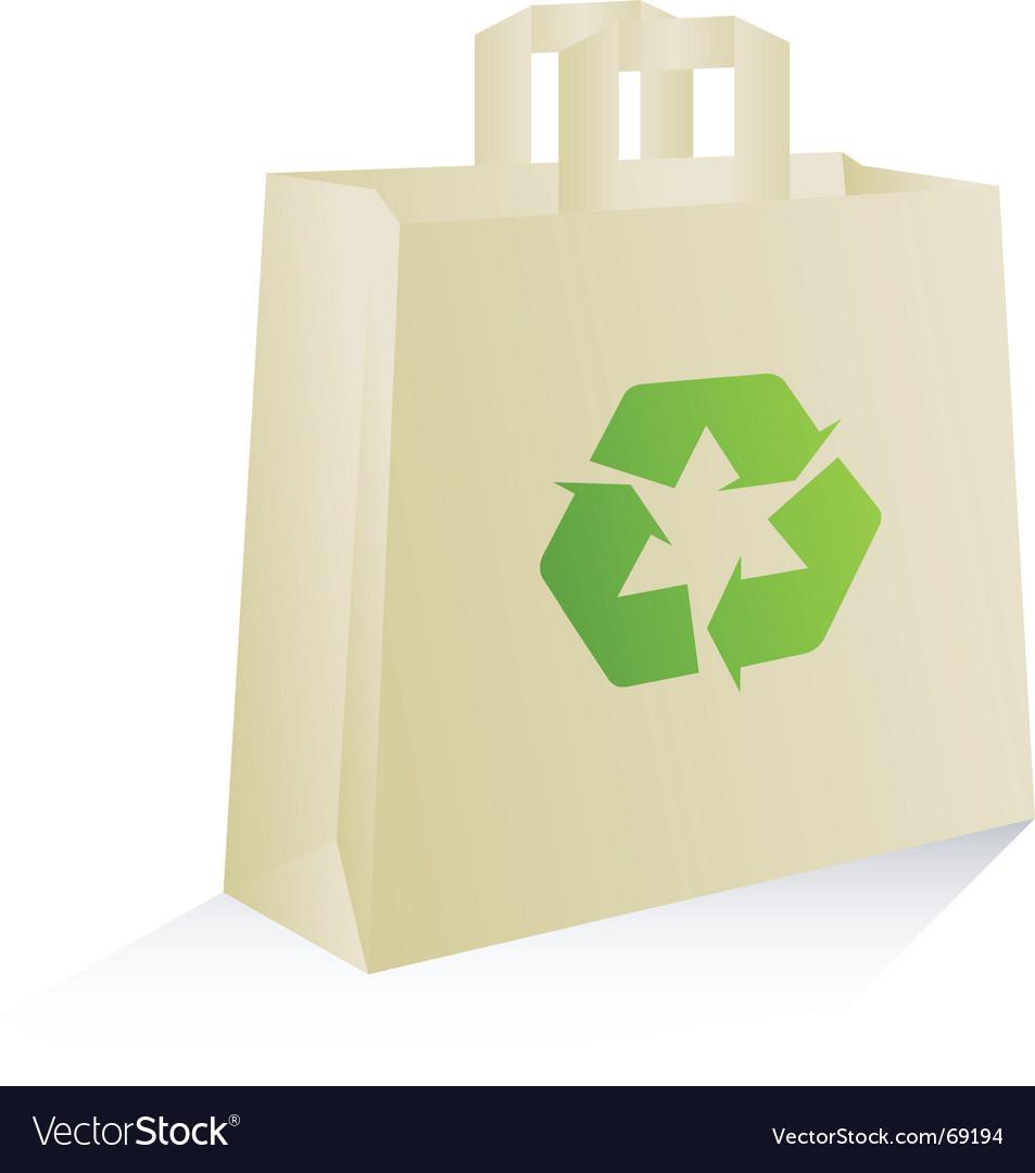Eco bag vector image