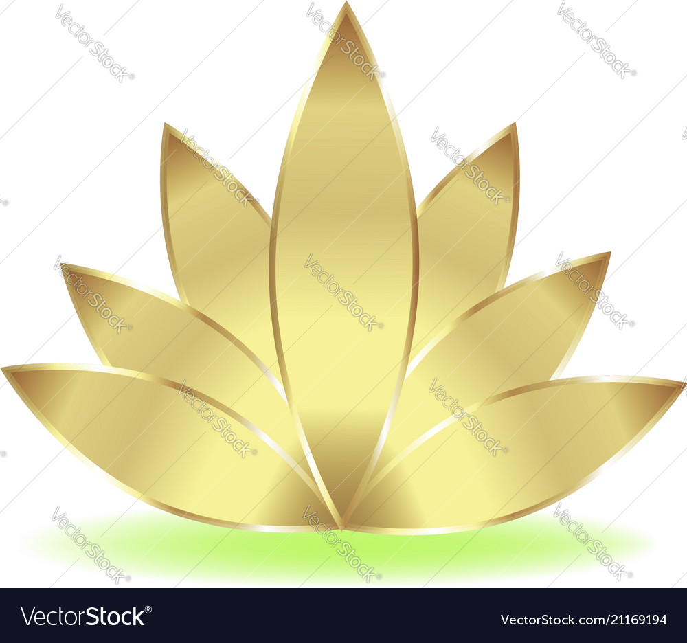 Gold lotus logo