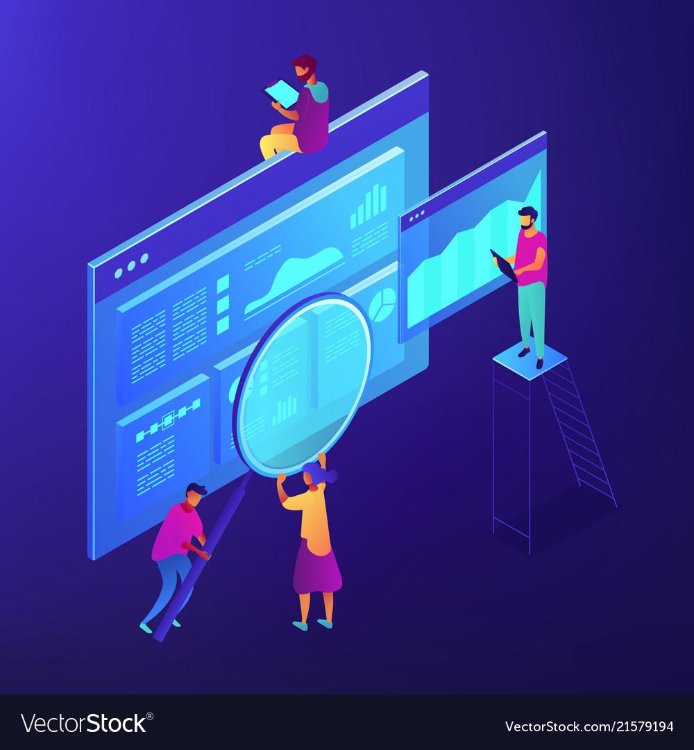 Isometric seo marketing and analytics