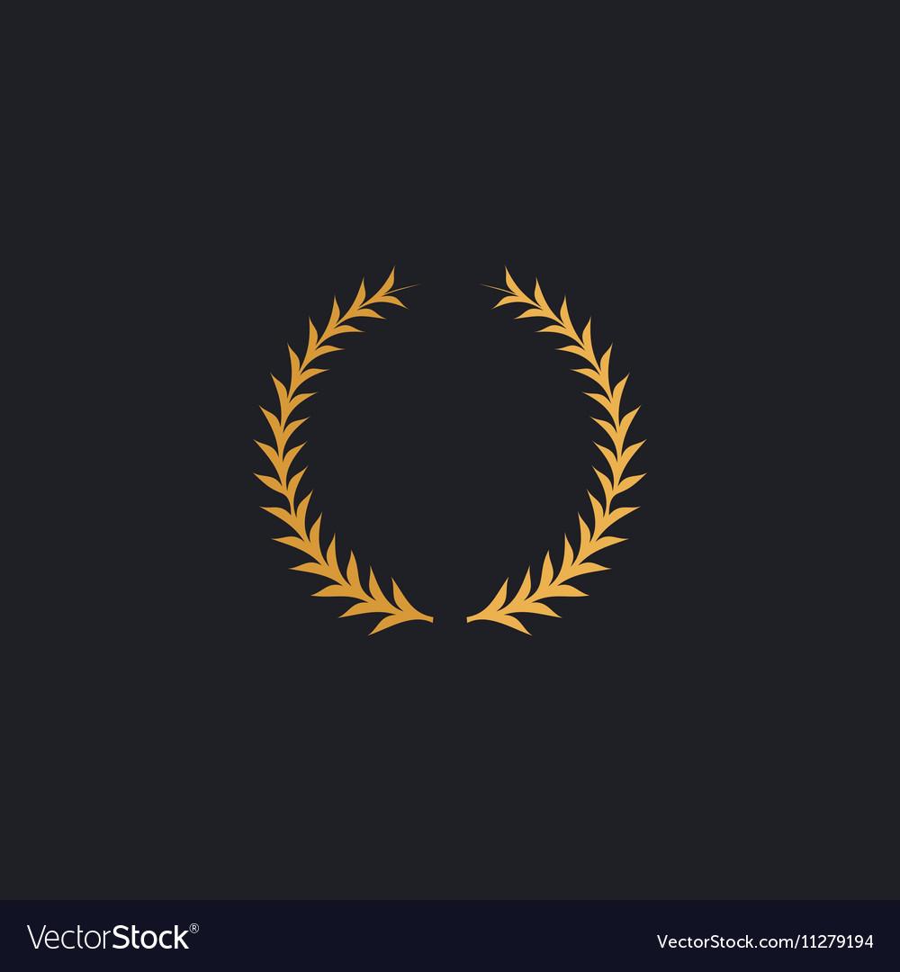 Laureate wreath computer symbol vector image