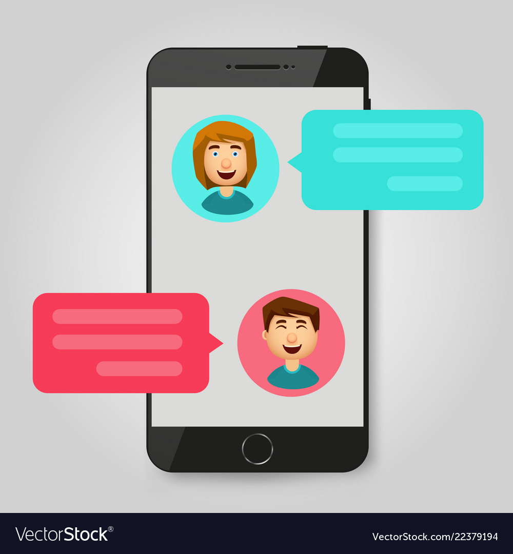 Mobile phone chat message notifications chatting