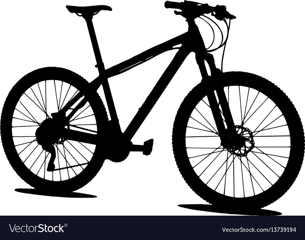 mtb mountain bike silhouette royalty free vector image rh vectorstock com bike victory bike victoria bc