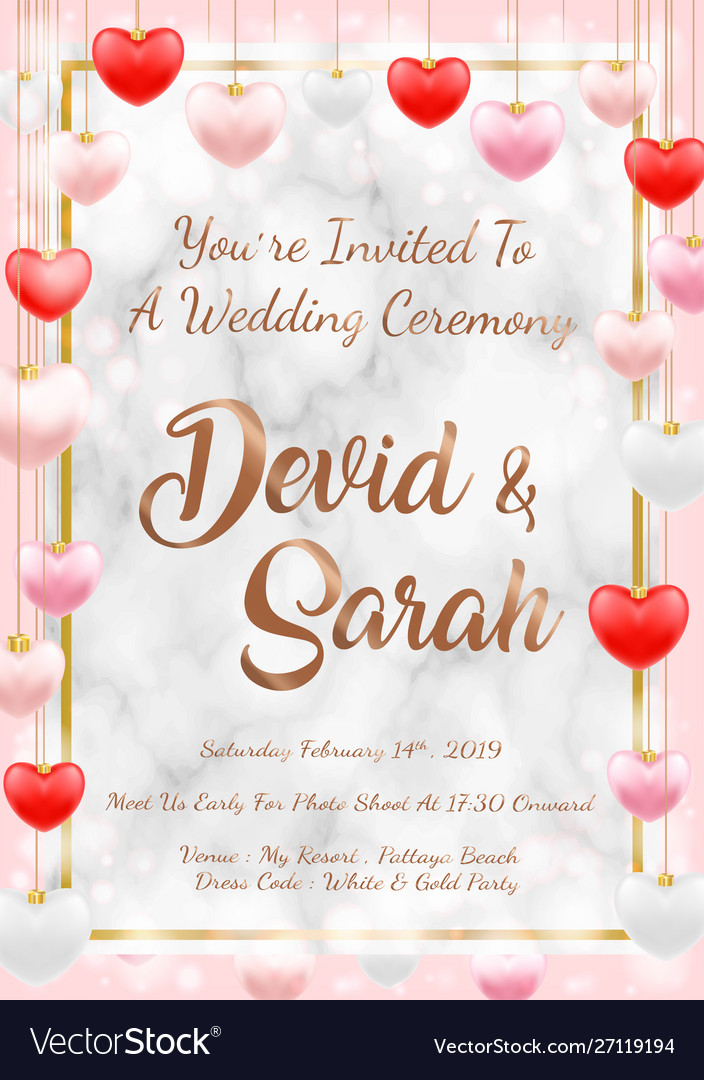 Sample wedding card invitation template eps