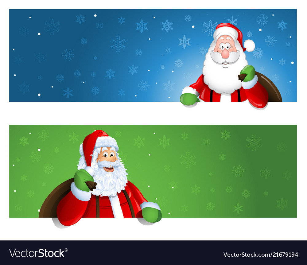 Santa claus banner with place for text