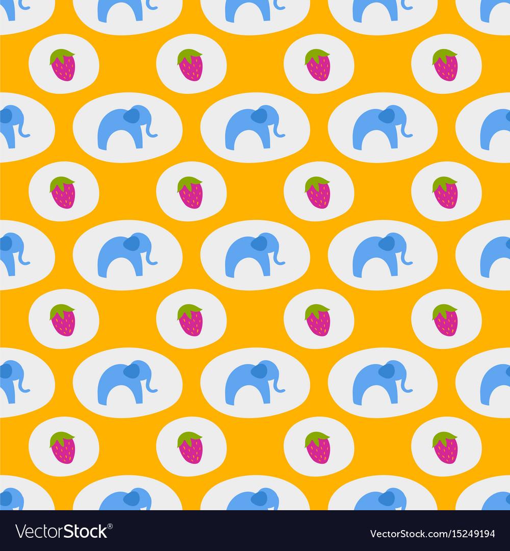 Seamless pattern of blue elephants background