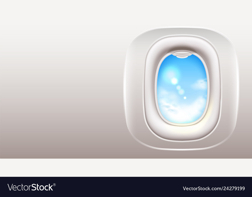 Airplane window porthole travel and tourism