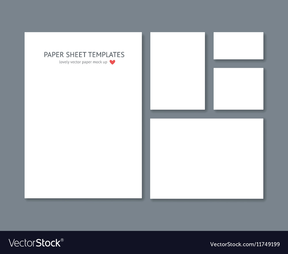 Blank stationery for corporate ID set vector image