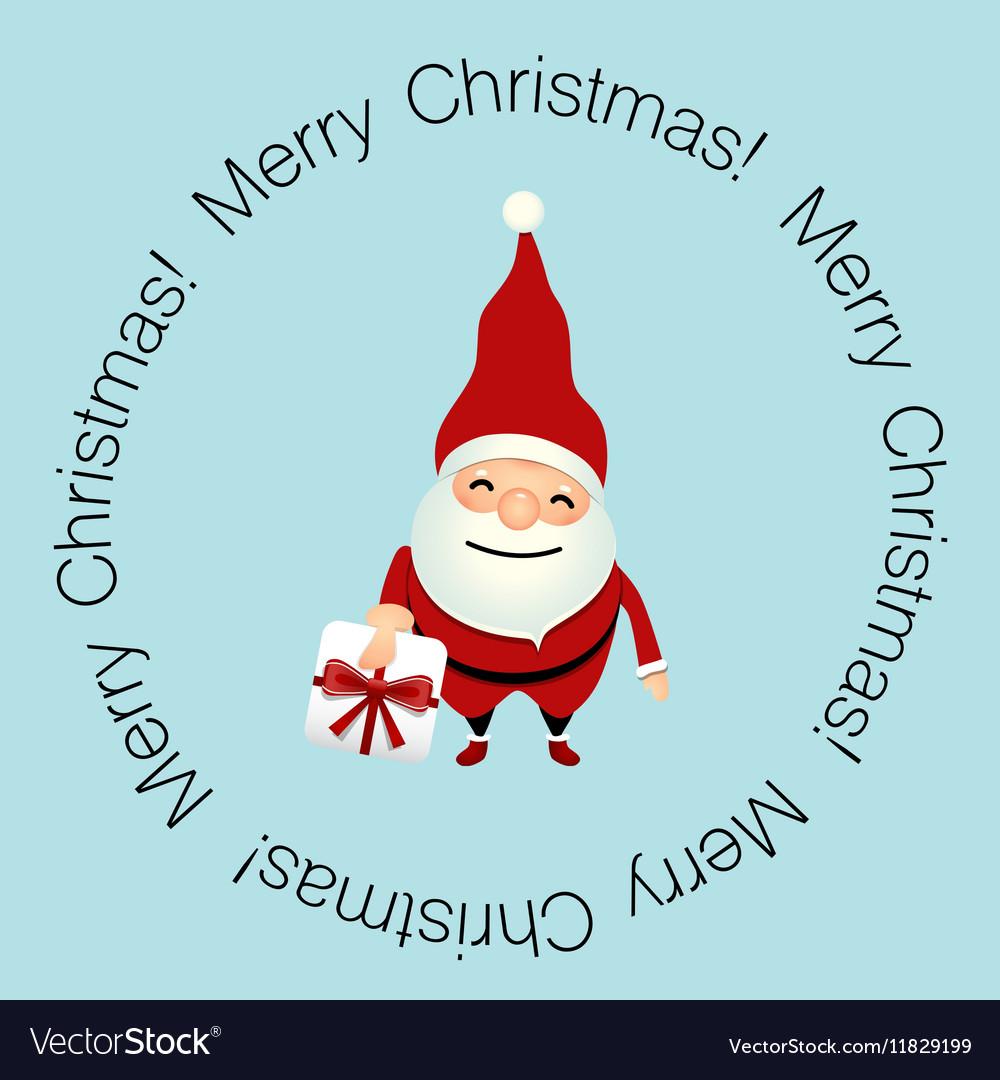 Christmas greeting card with christmas santa claus christmas greeting card with christmas santa claus vector image m4hsunfo
