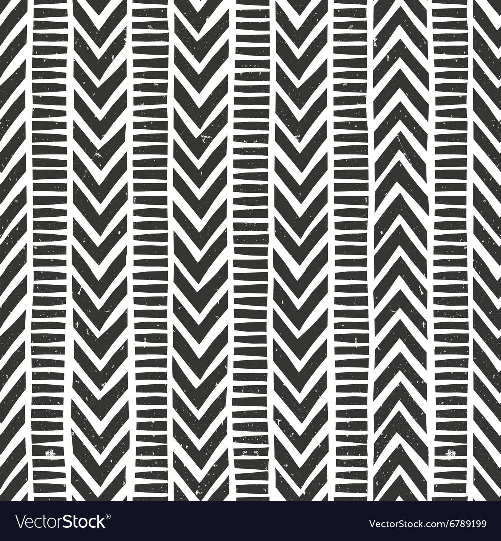 Hand drawn tribal pattern Seamless