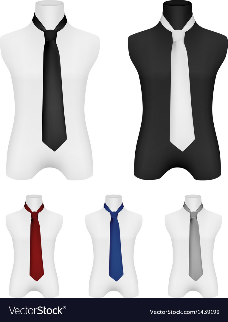 necktie on mannequin template royalty free vector image