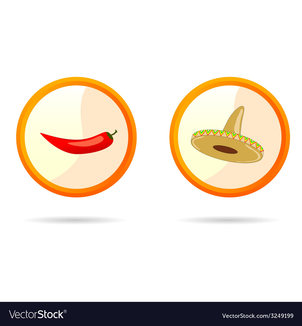 Red chili peppers and sombrero