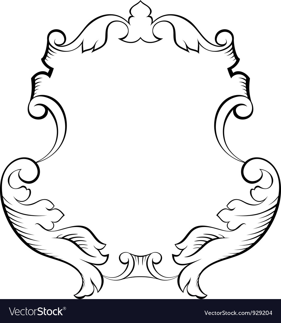Baroque architectural ornamental decorative frame Vector Image