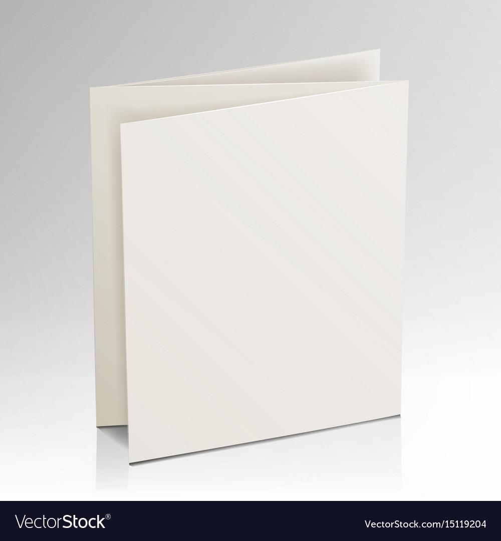 Blank folder white brochure 3d mockup