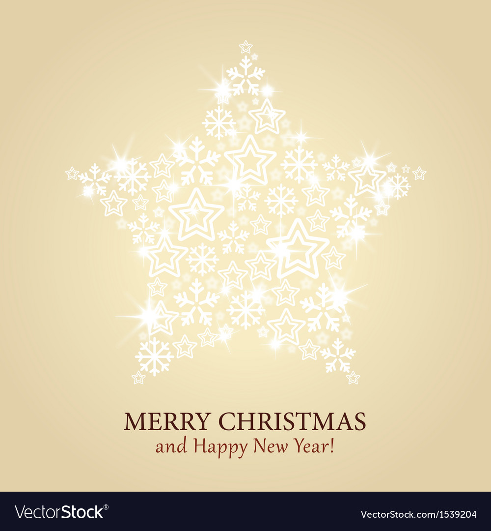 Christmas card - gold background with spark