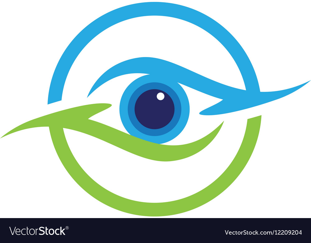eye care logo template royalty free vector image