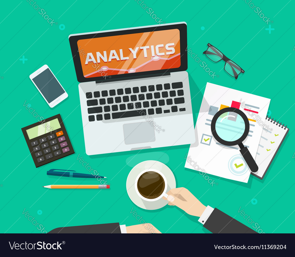 Financial auditing report concept finance data