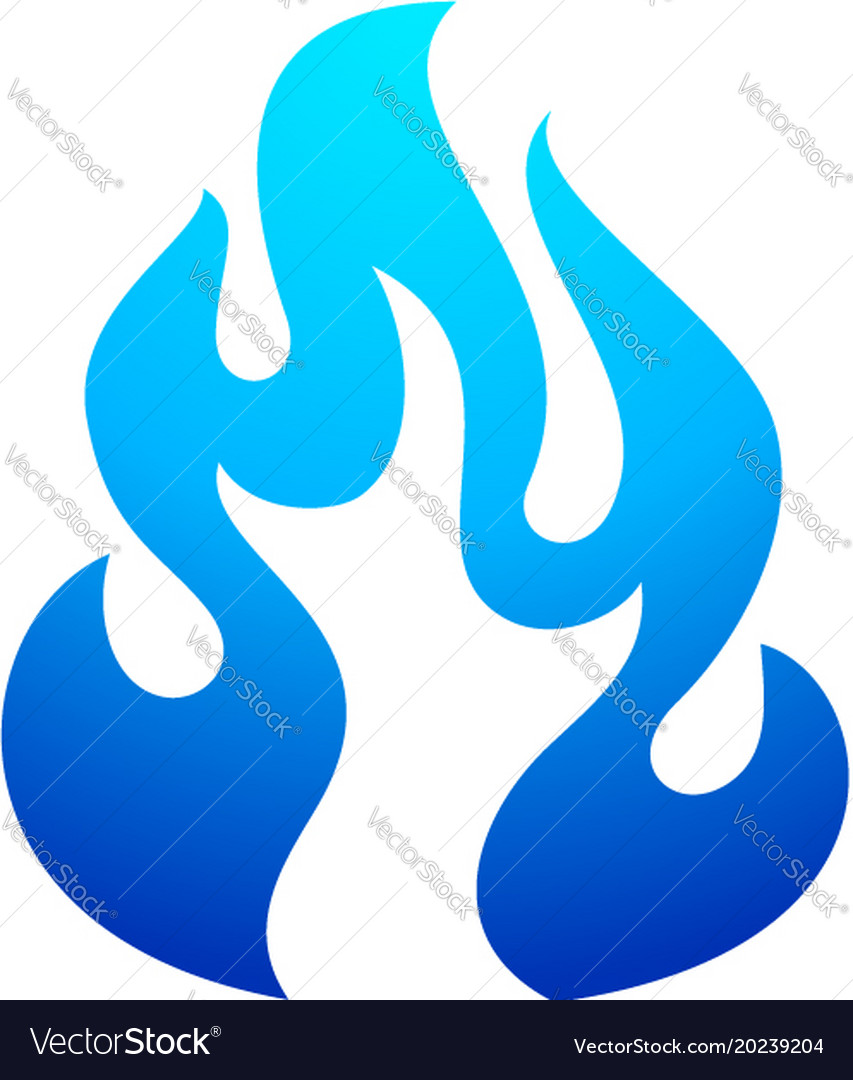 Fire flame blue icon