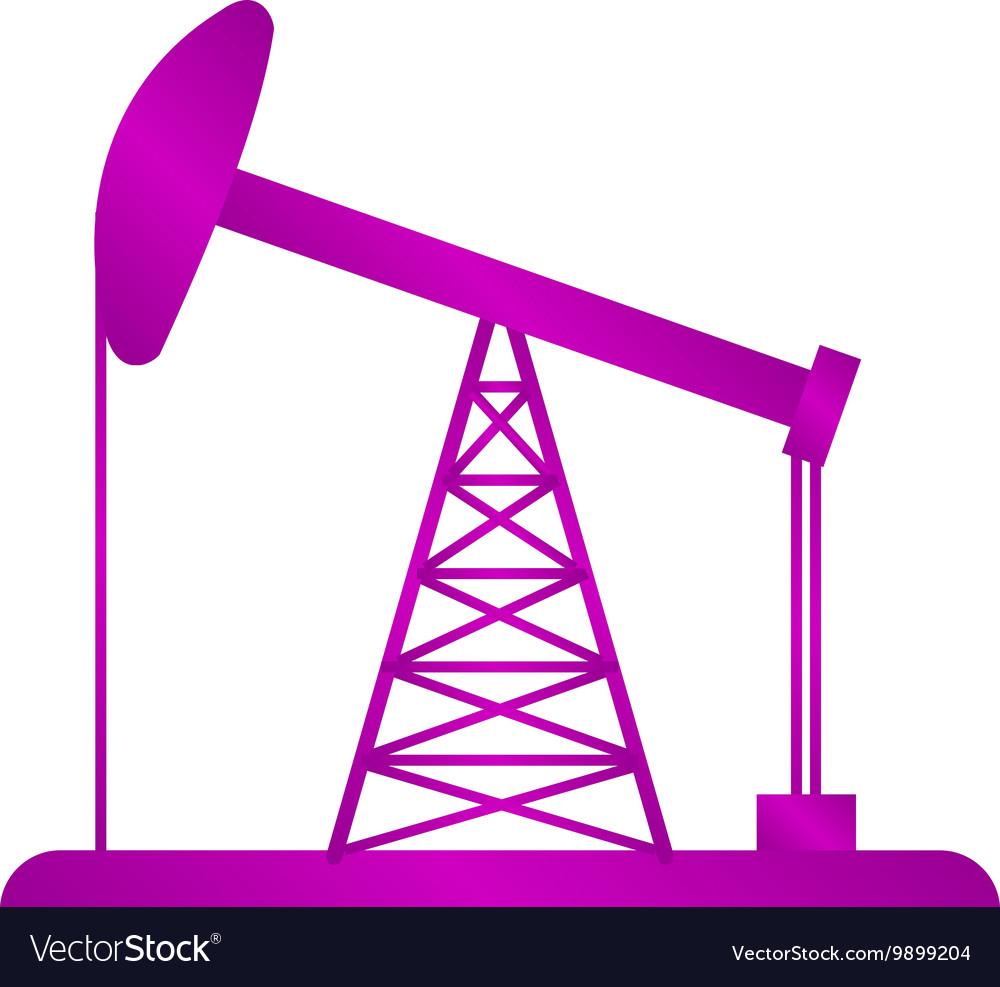 Oil Rig Icon vector image