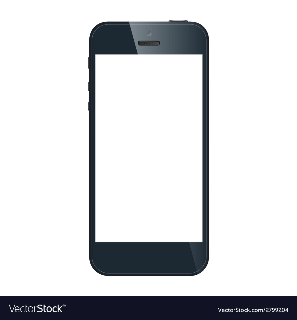 my iphone 5 screen went black realistic black iphone 5s with blank screen vector image 19398