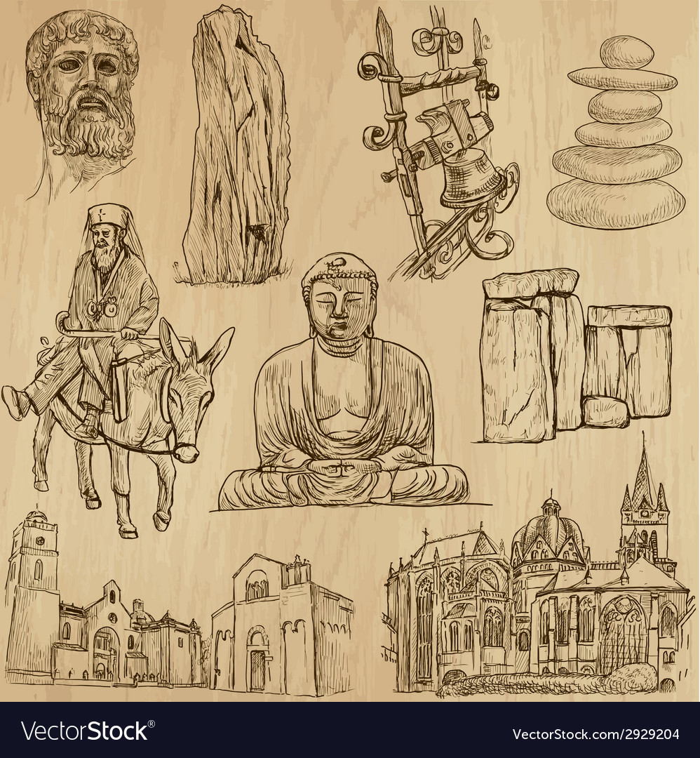 Religious no4 - pack hand drawings